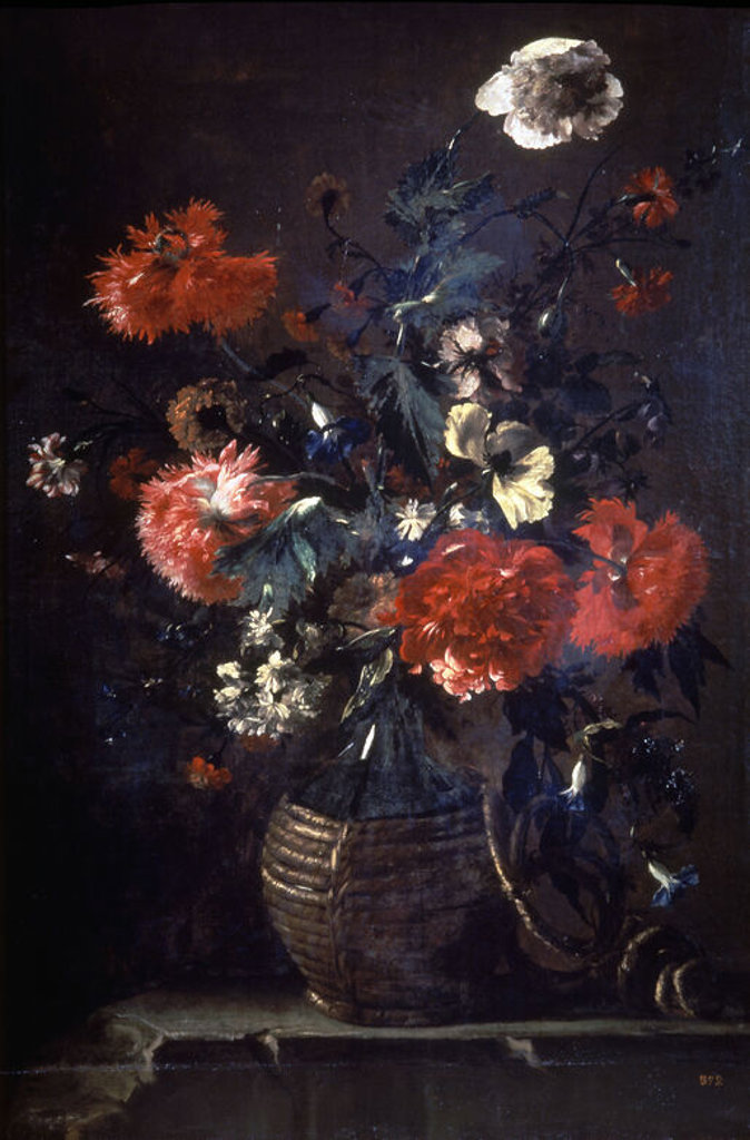 Stock Photo: 4409-21043 FLORERO - SIGLO XVII - OLEO/LIENZO - 107 x 72 cm - NP 1050 - BARROCO ESPAÑOL. Author: PEREZ BARTOLOME. Location: MUSEO DEL PRADO-PINTURA, MADRID, SPAIN.