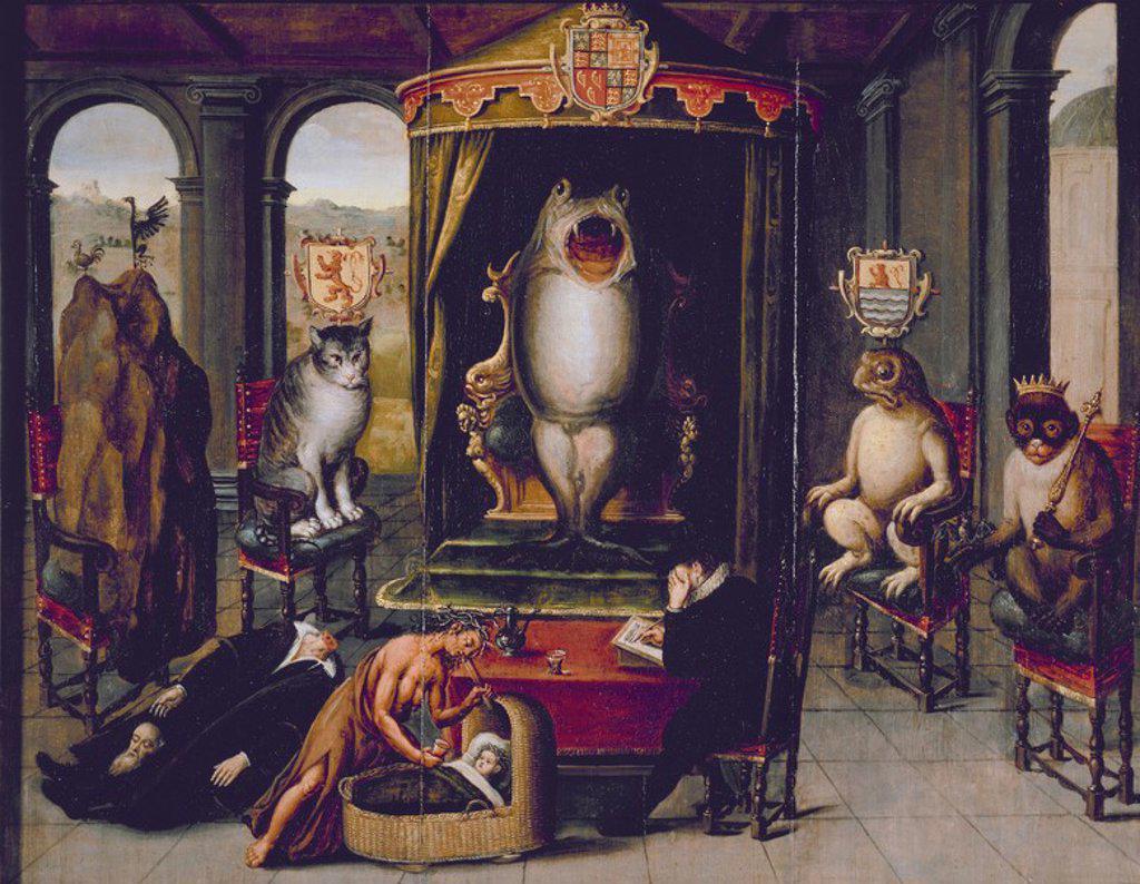 Stock Photo: 4409-21737 ALEGORIA DE LA EJECUCION DE JOHAN VAN OLDENBARNEVELT (1547/1619) S XVII(DECAPITADO EL 13/5/1619). Author: ESCUELA HOLANDESA SIGLO XVII. Location: MUSEO HET PRINSENHOF, DELFT, HOLANDA.