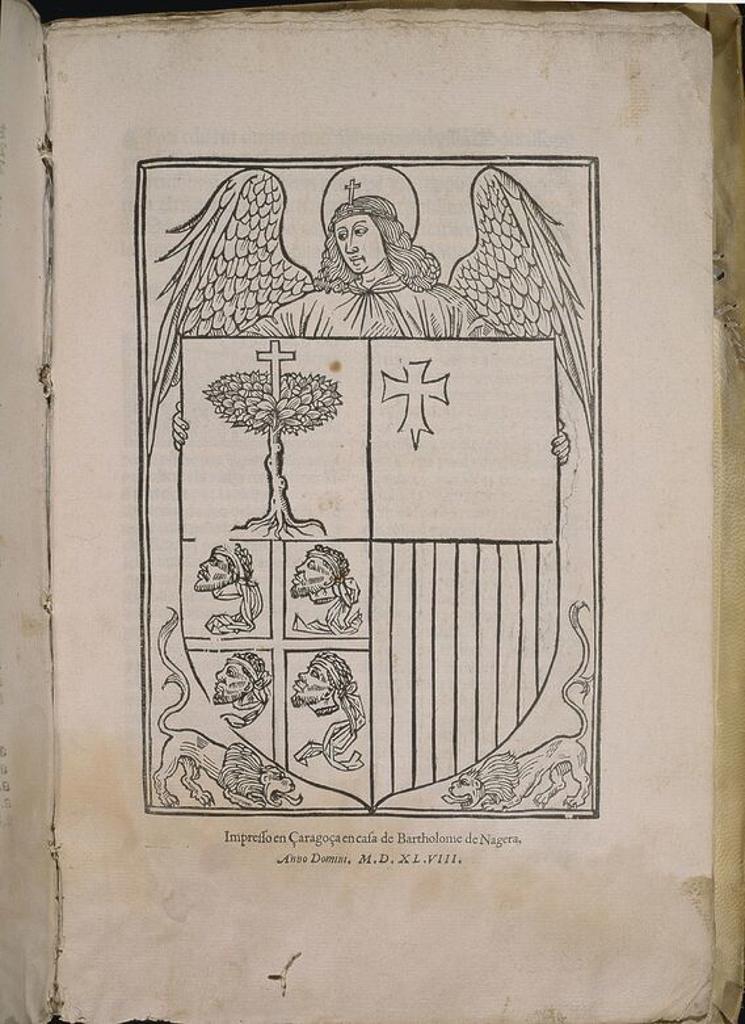 "Stock Photo: 4409-22223 FUEROS DE MONZON ""FORI EDITI IN CURTIIS GENERALIBUS APUD VILLA MONTISSONI"" - 1548 - IMPRESO: ZARAGOZA POR BARTOLOME DE NAGERA. Location: CONGRESO DE LOS DIPUTADOS-BIBLIOTECA, MADRID, SPAIN."
