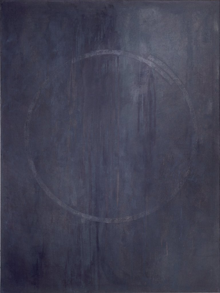 CIRCULO - PINTURA ABSTRACTA. Author: SERRANO SANTIAGO 1942/. Location: PRIVATE COLLECTION, MADRID, SPAIN. : Stock Photo