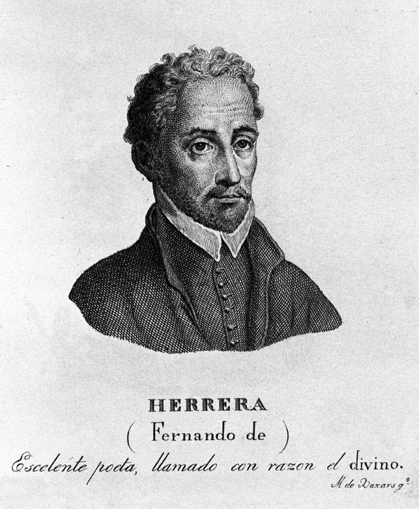 Stock Photo: 4409-23049 FERNANDO DE HERRERA EL DIVINO (1536-1599). Author: XAXARS M. Location: BIBLIOTECA NACIONAL-COLECCION, MADRID.