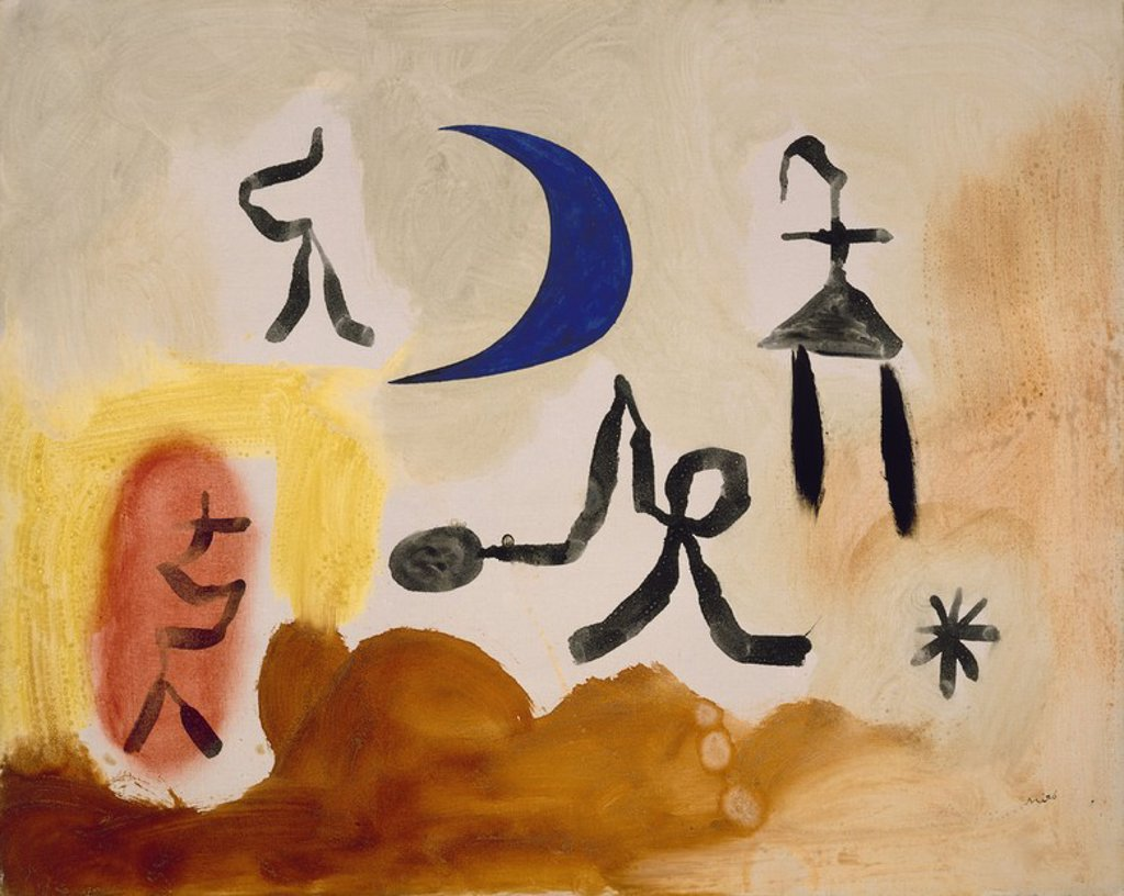 Stock Photo: 4409-23284 PINTURA. Author: MIRO, JOAN. Location: MUSEO REINA SOFIA-PINTURA, MADRID, SPAIN.