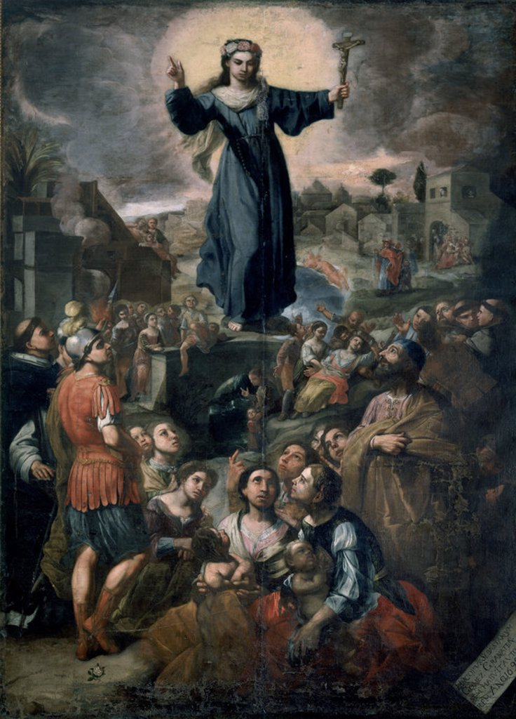 Stock Photo: 4409-23297 SANTA ROSALIA DE PALERMO - 1699. Author: GOMEZ SEBASTIAN EL MULATO. Location: MUSEO DE BELLAS ARTES-PALACIO ABARCA, SALAMANCA, SPAIN.