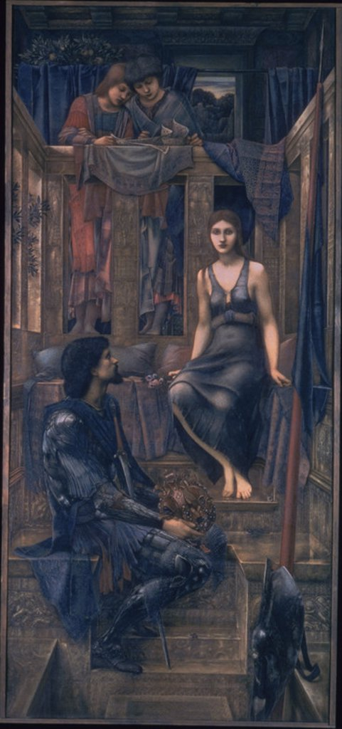 Stock Photo: 4409-23373 King Cophetua and the Beggar Maid - 1884 - 293x135,9 cm - watercolour on paper - Pre-Raphaelite. Author: BURNE-JONES, EDWARD. Location: TATE GALLERY, LONDON, ENGLAND. Also known as: EL REY COPHETUA Y LA MENDIGA.