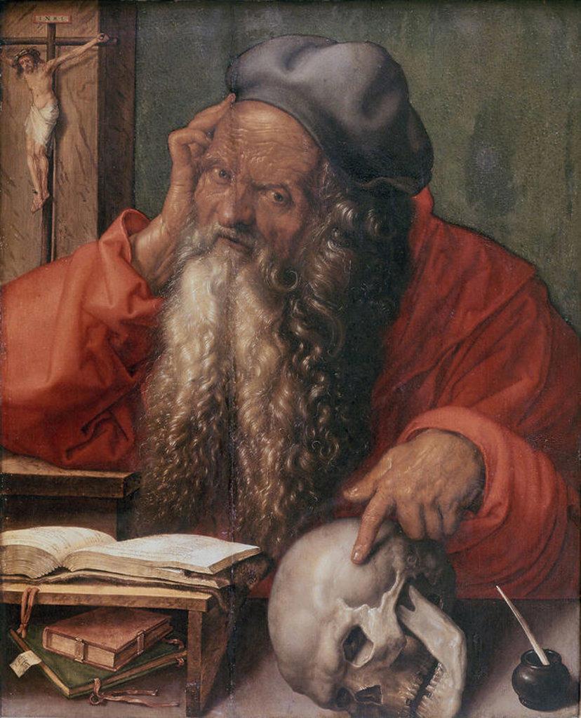 SAN JERONIMO - 1521 - 59,5x48,5 - RENACIMIENTO ALEMAN. Author: DURER, ALBRECHT. Location: MUSEO DE ARTE ANTIGUO, LISBON, PORTUGAL. : Stock Photo