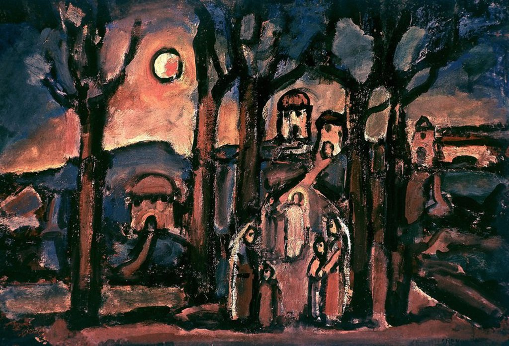 Stock Photo: 4409-25102 L´AUTOMNE O NAZARETH- 1948. Author: ROUAULT, GEORGES. Location: MUSEOS VATICANOS-ARTE RELIGIOSO MODERNO, VATICANO.