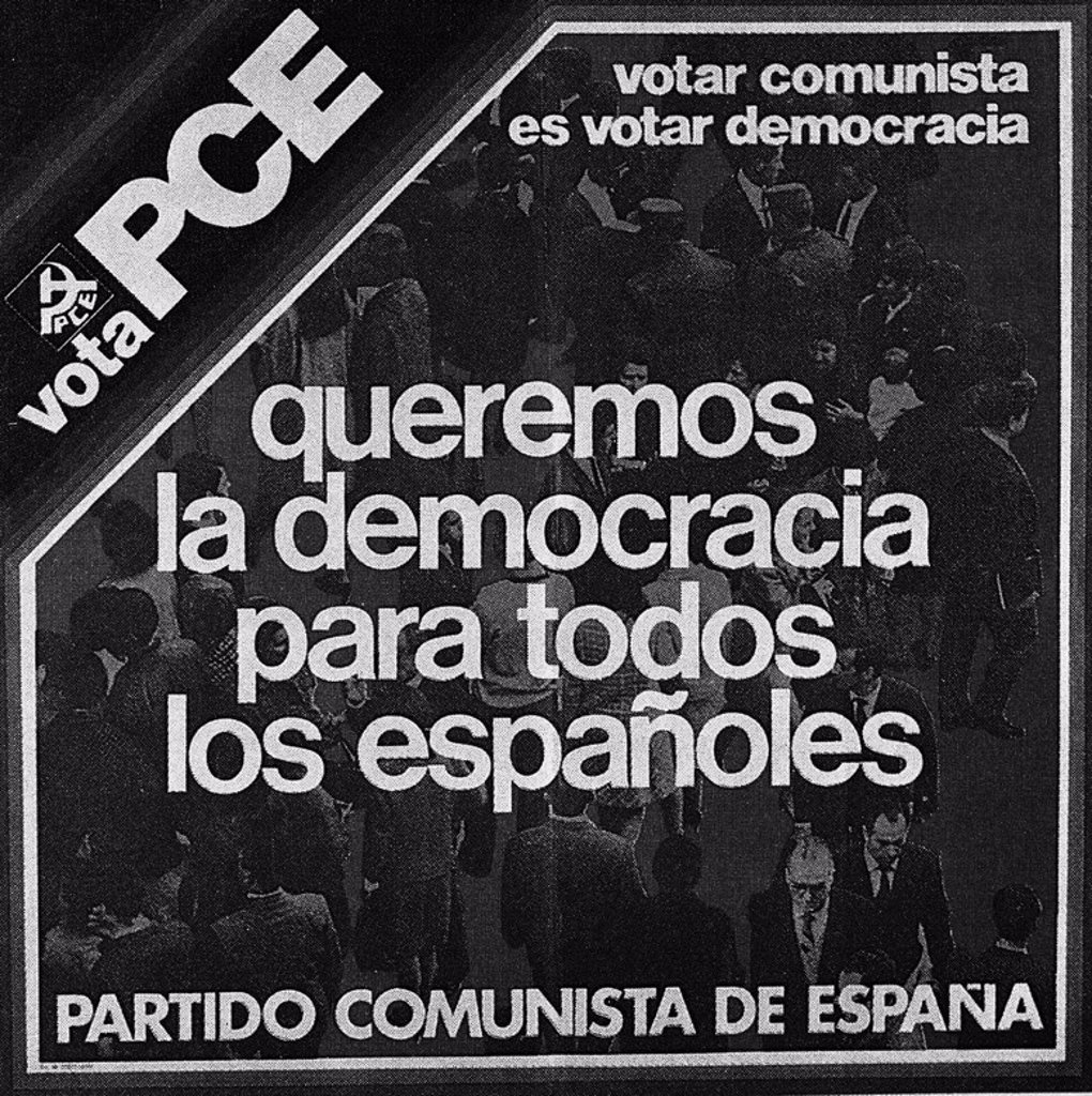 CARTEL DEL PCE. Location: FUNDACION PABLO IGLESIAS, MADRID, SPAIN. : Stock Photo