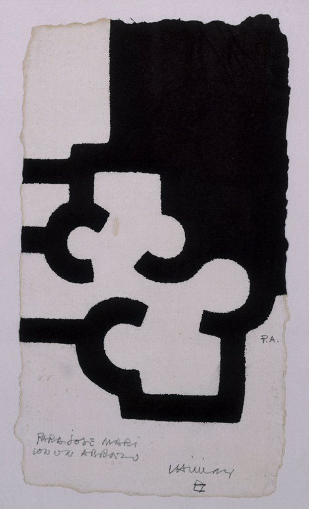Stock Photo: 4409-25577 SIN TITULO - SIGLO XX - GRABADO. Author: CHILLIDA, EDUARDO. Location: PRIVATE COLLECTION, MADRID, SPAIN.