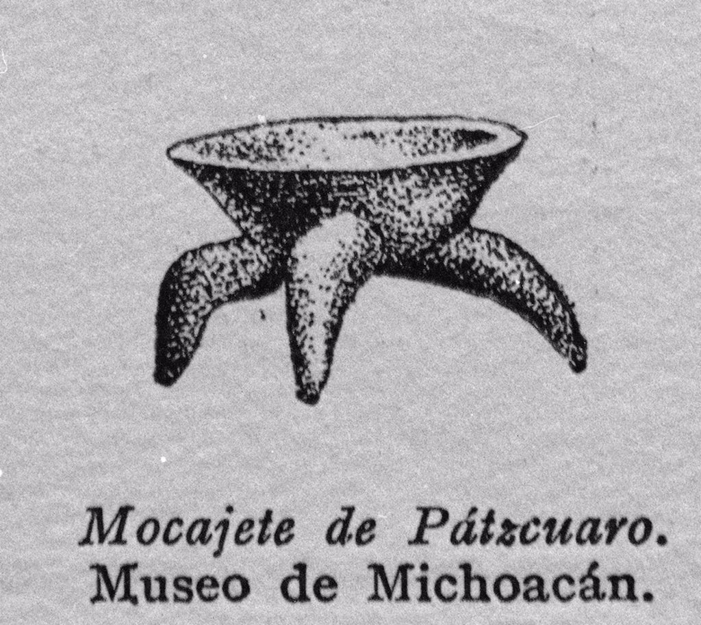 Stock Photo: 4409-25958 GRABADO - MOCAJETE DE PATZCUARO - MUSEO DE MICHOACAN. Location: INSTITUTO DE COOPERACION IBEROAMERICANA, MADRID, SPAIN.