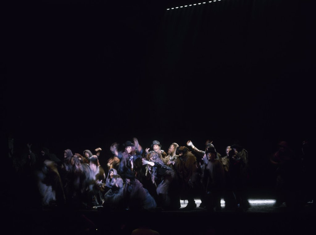 LOS MISERABLES - ADAPTACION MUSICAL DE LA NOVELA DE VICTOR HUGO - 1993. Location: APOLLO THEATRE, SPAIN. : Stock Photo