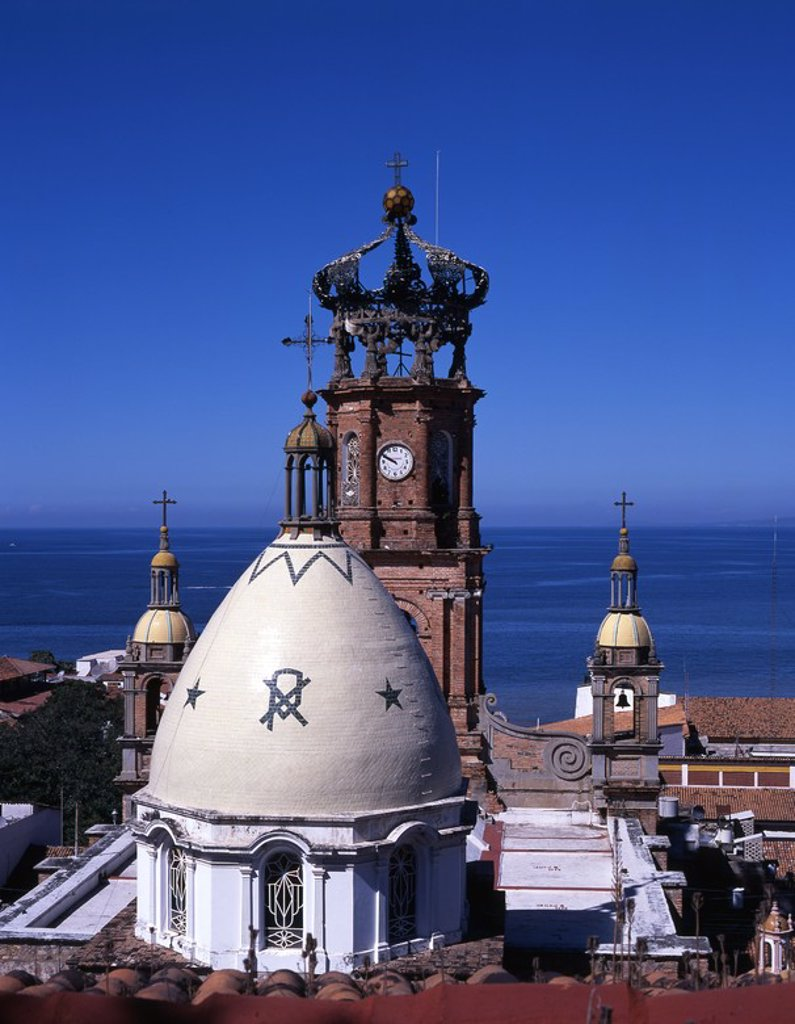 Stock Photo: 4409-270 Mexico.Jalisco.Puerto Vallarta.Templo de Guadalupe.
