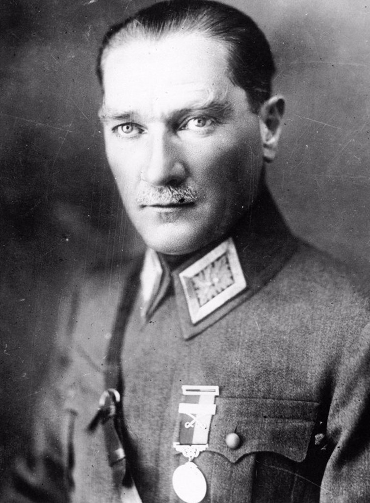 Stock Photo: 4409-27667 Ataturk (Mustafá Kemal). Founder of the modern state of Turkey.