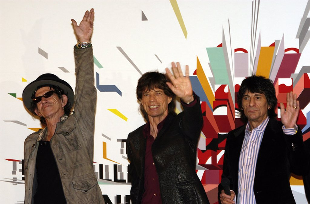 Stock Photo: 4409-28415 20 / 03 / 2006 Tokyo, Rolling Stones at the press conference held at Four Seasons Hotel in Tokyo city Japan for their Japan Tour 2006, they gonna perform a live concert in Tokyo Dome.