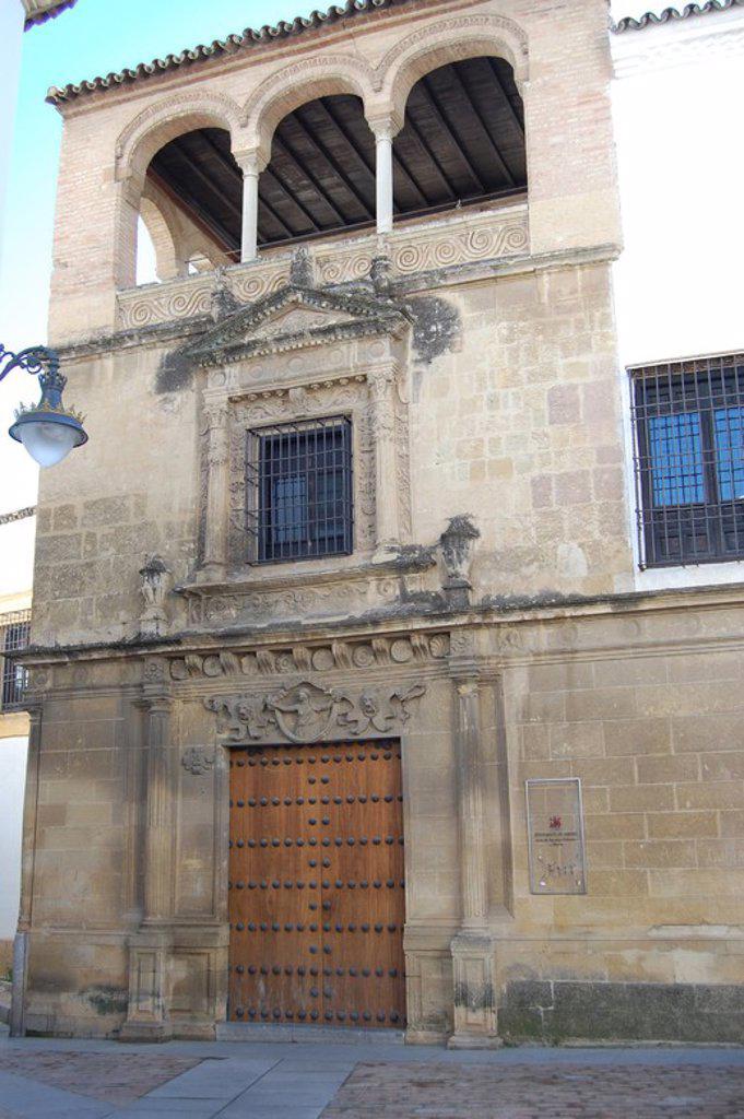 Palacio de los Villalones, tambiŽn conocido como el Palacio del Orive, arquitectura civil cordobesa renacentista, construido por Hernan Ruiz II en 1560. Sede de la concejalia de cultura. Cordoba. : Stock Photo