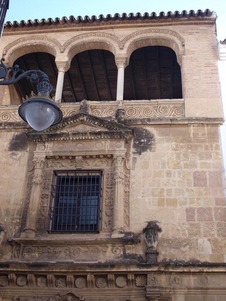 Stock Photo: 4409-29634 Palacio de los Villalones, tambiŽn conocido como el Palacio del Orive, arquitectura civil cordobesa renacentista, construido por Hernan Ruiz II en 1560. Sede de la concejalia de cultura. Cordoba.