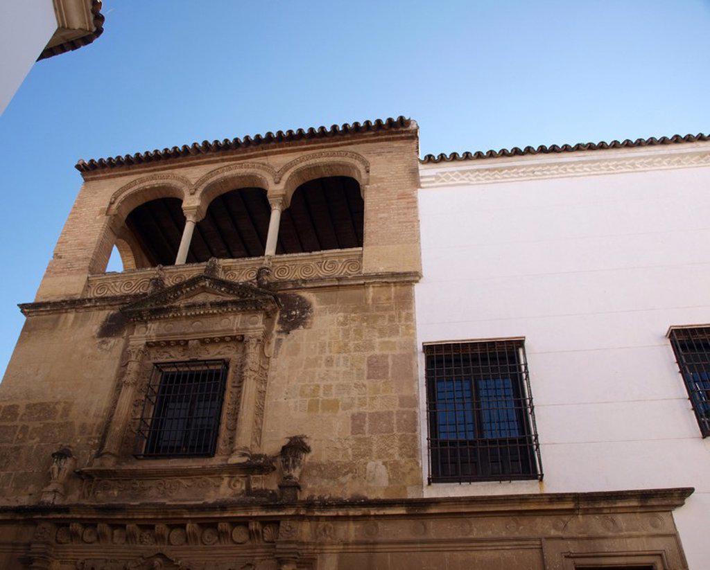 Stock Photo: 4409-29635 Palacio de los Villalones, también conocido como el Palacio del Orive, arquitectura civil cordobesa renacentista, construido por Hernan Ruiz II en 1560. Sede de la concejalia de cultura. Cordoba.
