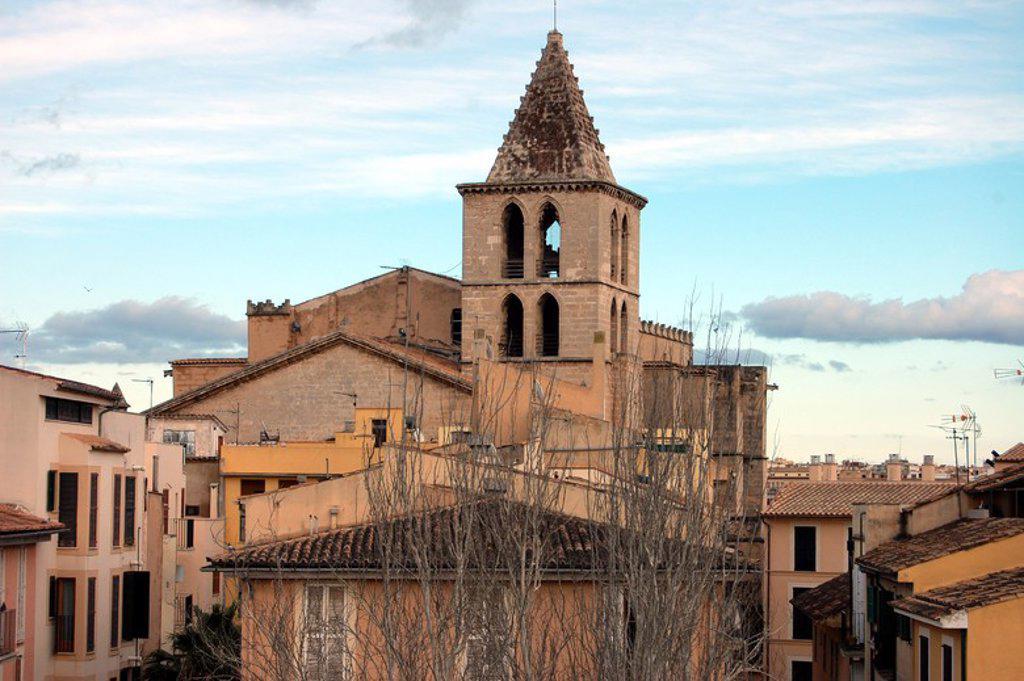 Stock Photo: 4409-29814 Iglesia de Santa Creu, calle santa creu. Palma de Mallorca.