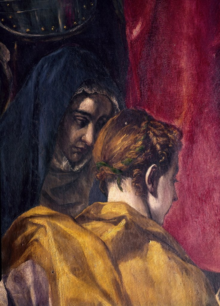 Stock Photo: 4409-2999 EL EXPOLIO DE CRISTO - 1577/1579 - DETALLE DE DOS DE LAS TRES MARIAS - (CONJ Nº 257). Author: EL GRECO. Location: CATEDRAL-INTERIOR, TOLEDO, SPAIN.