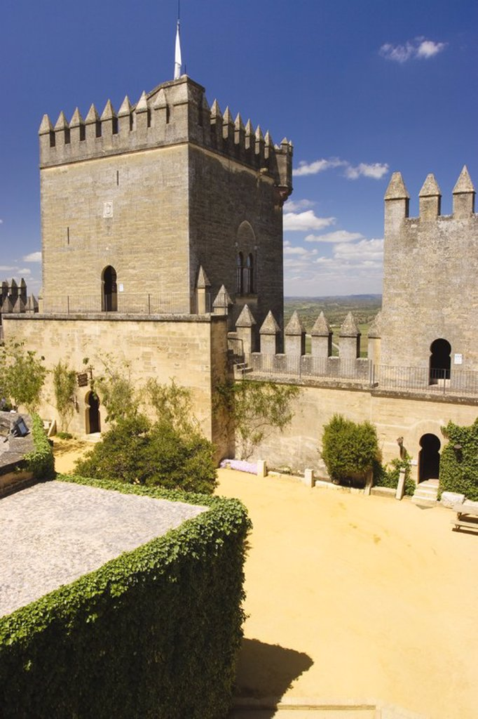Almodovar del Rio Castle. Cordova. Andalusia. Spain. : Stock Photo