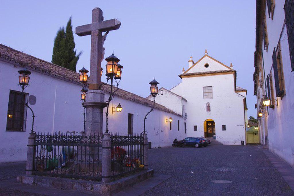 Capuchinos Square. Cristo de los Faroles. Cordova City. Andalusia. Spain. : Stock Photo
