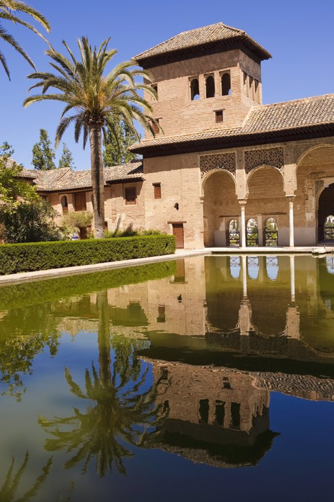 Alhambra de Granada. Granada City. Andalusia. Spain. : Stock Photo