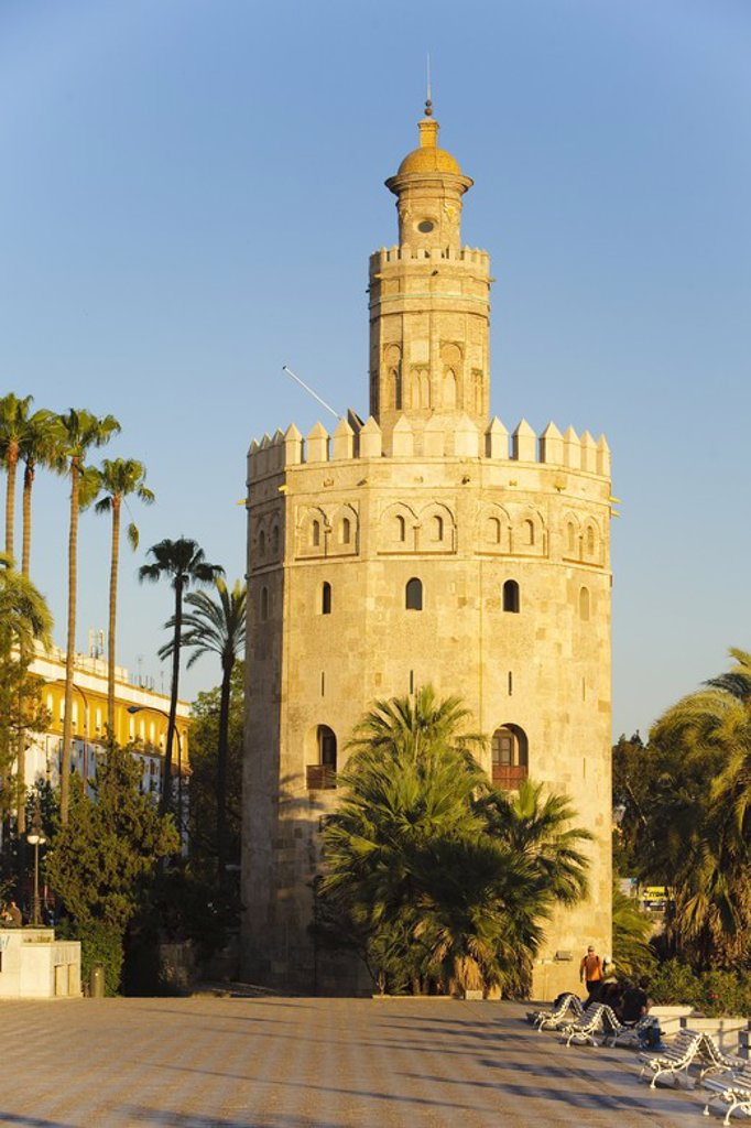 Stock Photo: 4409-31223 Torre del Oro. Sevilla City. Andalusia. Spain.