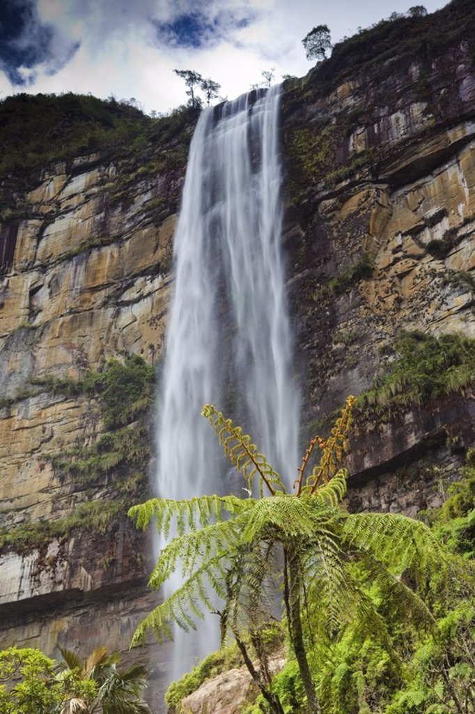 Stock Photo: 4409-31253 Gocta waterfall. Amazonas Departament. Peru.
