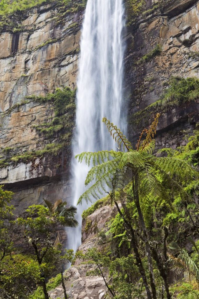 Stock Photo: 4409-31254 Gocta waterfall. Amazonas Departament. Peru.