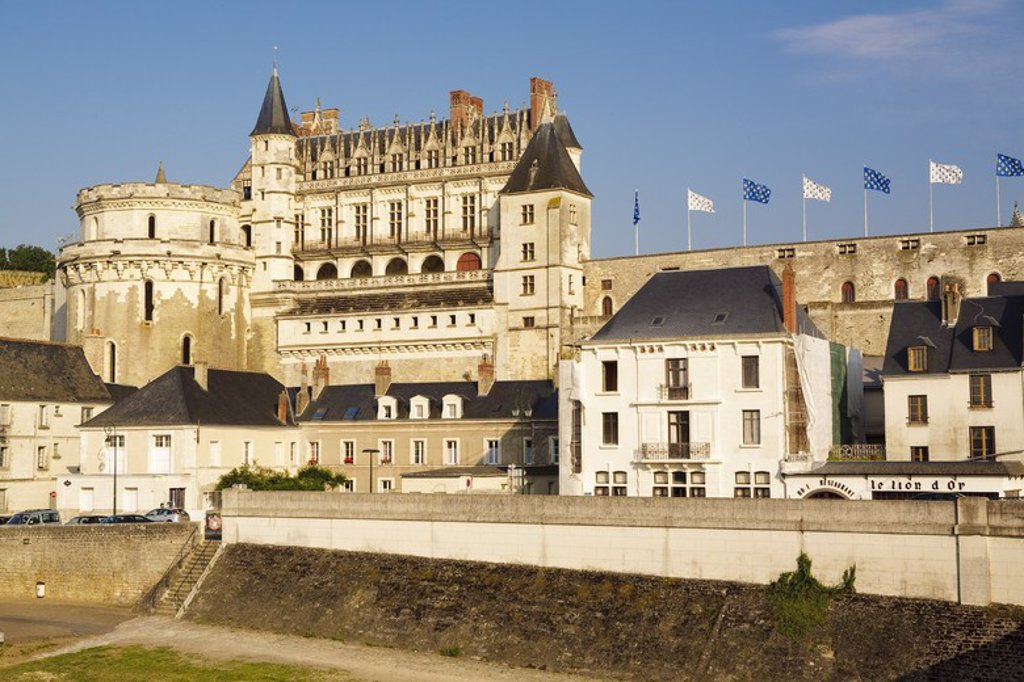 Stock Photo: 4409-32138 Amboise Castle. Loire Valley. France.