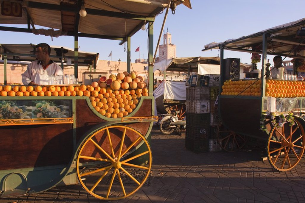 Stock Photo: 4409-32233 Street Shop in Djemaa el Fna Square. Marrakech. Morocco.