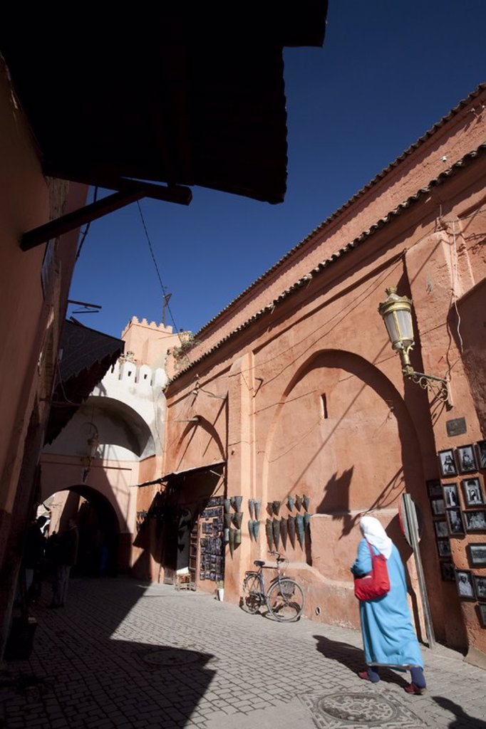 Stock Photo: 4409-32287 La Medina District. Marrakech. Morocco.