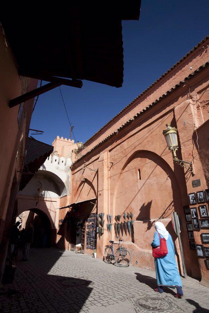 La Medina District. Marrakech. Morocco. : Stock Photo