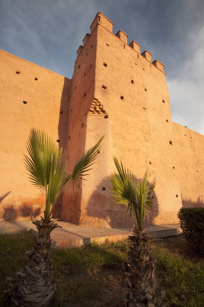 Stock Photo: 4409-32296 Wall of La Medina. Marrakech. Morocco.