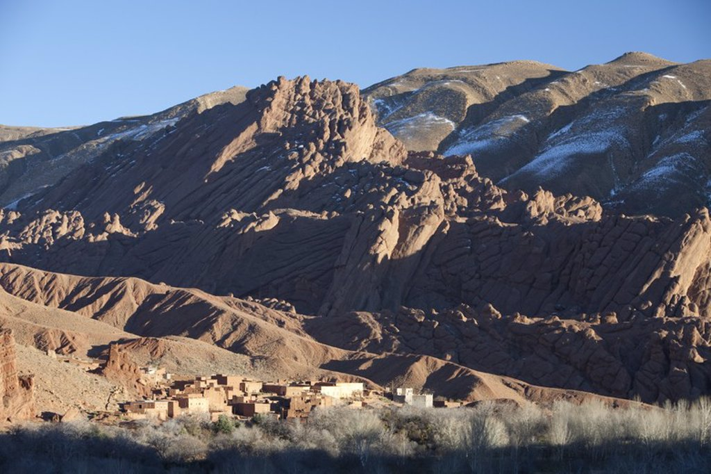 Stock Photo: 4409-32396 Village of Ait Arbi. Dades Valley. Morocco.