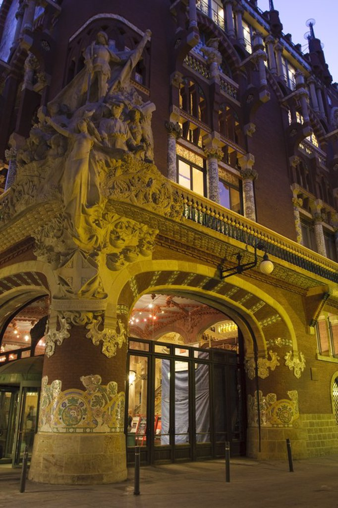 Stock Photo: 4409-34076 The Palau de la Musica Catalana. Ciutat Vella district. Barcelona city. Spain.