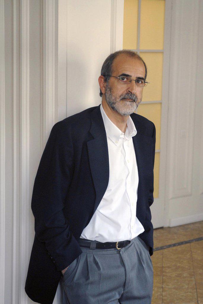 GARCÍA PORTA, Antoni. Spanish writer. Barcelona, may 08. : Stock Photo