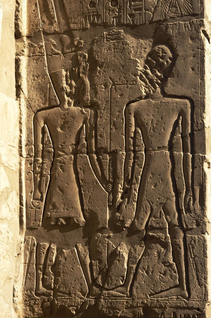 Stock Photo: 4409-34846 Temple of Luxor. Relief. New Kingdom. Egypt.