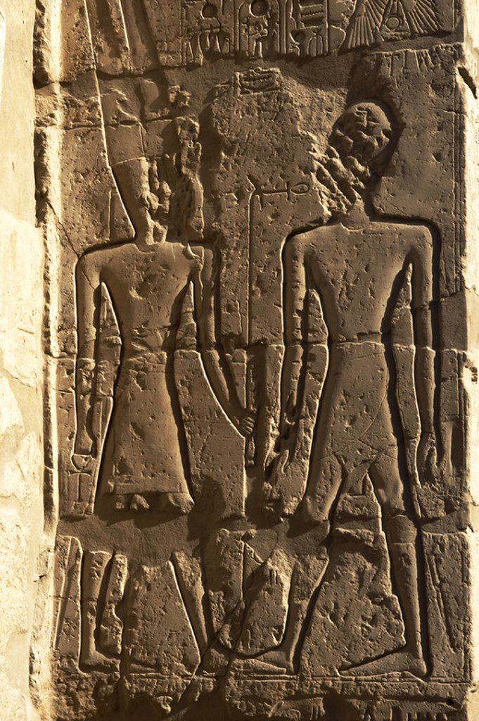 Temple of Luxor. Relief. New Kingdom. Egypt. : Stock Photo