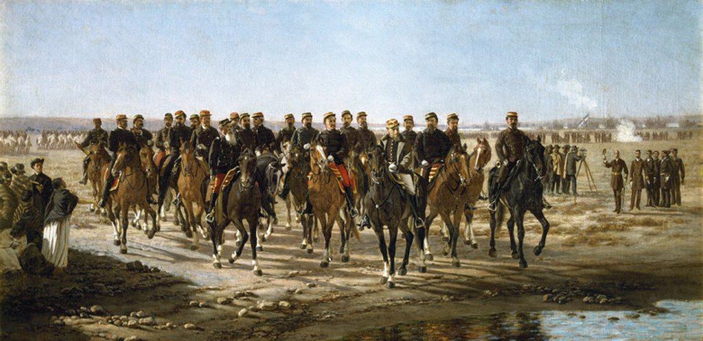 Stock Photo: 4409-34865 Juan Manuel Blanes (1830-1901). Uruguayan painter. Conquest of the desert by General Julio Argentino Roca and his army, or occupation of Black River, 1879. Juan Manuel Blanes Municipal Museum of Fine Arts. Montevideo. Uruguay.