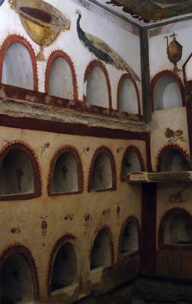 Stock Photo: 4409-35149 Columbarium. National Roman Museum. Baths of Diocletian. Rome. Italy.