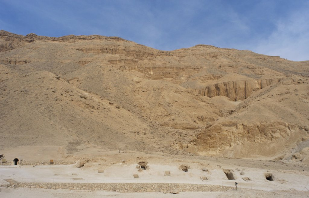 Stock Photo: 4409-35627 The Valley of the Queens where wives of Pharaohs were buried in ancient times. Thebes. Egypt.