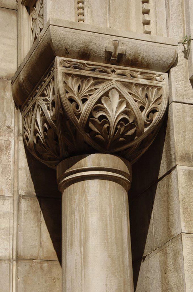 Stock Photo: 4409-35674 Croatia. Porec. Euphrasian Basilica. Byzantine church built in the 6th century. Capital detail.
