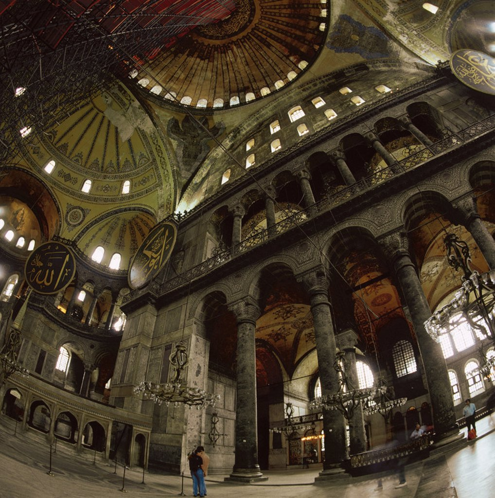 Turkey. Istanbul. Hagia Sophia. Interior. : Stock Photo