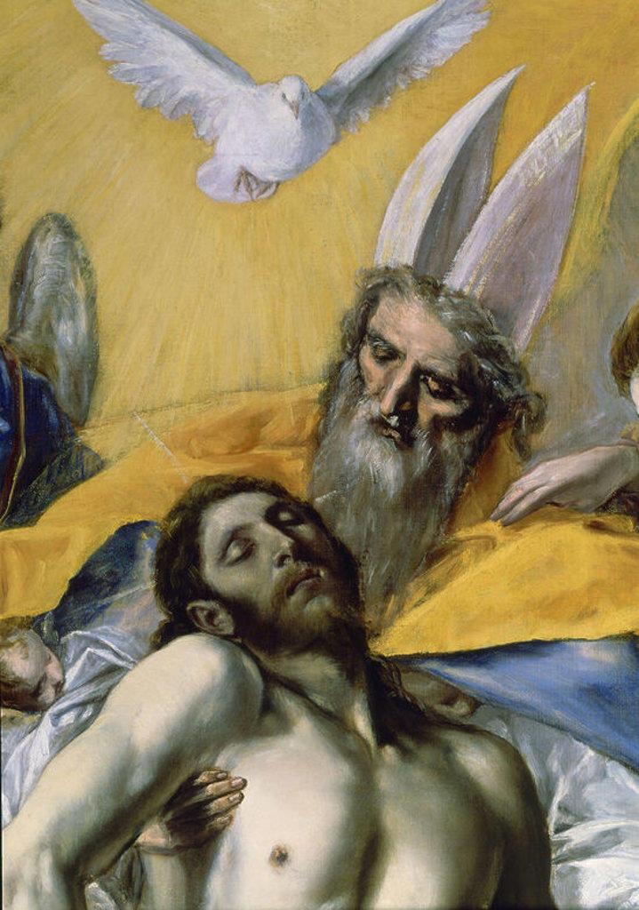 Stock Photo: 4409-3576 Trinity (detail). La Trinidad. Madrid, Prado museum. Author: EL GRECO. Location: MUSEO DEL PRADO-PINTURA, MADRID, SPAIN.