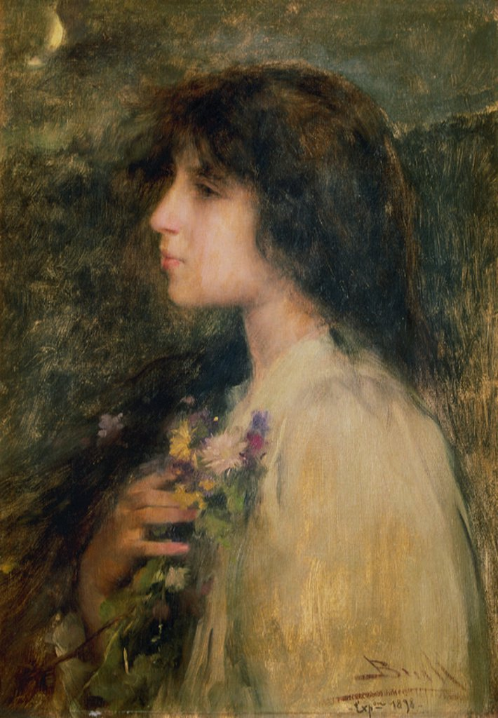 Stock Photo: 4409-35943 Joan Brull (1868-1912). Spanish modernist painter. Daydream. 1906. Circle of the Lyceum. Barcelona. Catalonia. Spain.