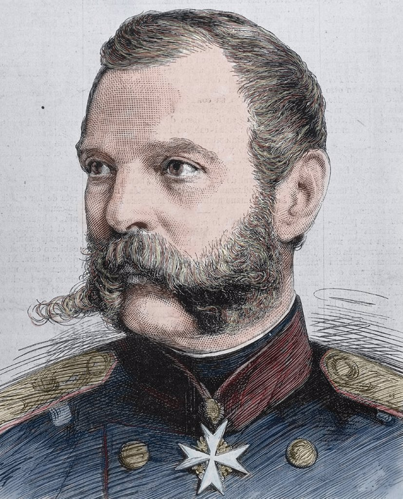 Alexander II (1818-1881). Tsar of Russia (1855-1881). Engraving. : Stock Photo