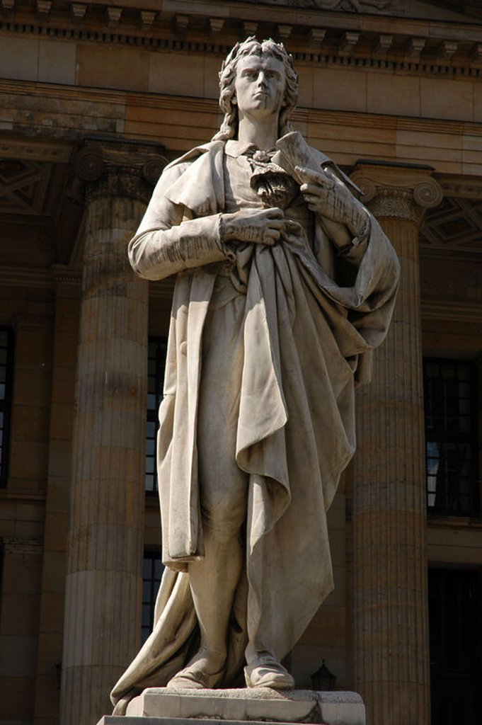 Stock Photo: 4409-37786 Johann Christoph Friedrich von Schiller (1759-1805). German poet, philosopher, historian, and playwright. Monument in Gendarmenmarkt, in the city center. Berlin. Germany.