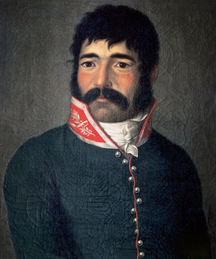 Stock Photo: 4409-38155 EL EMPECINADO, Juan Martín Díaz, llamado (1775-1825) Guerrillero español. RETRATO ANONIMO. Museo Romántico. Madrid. España.