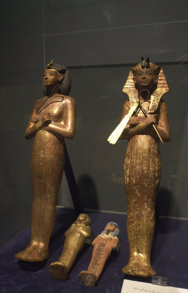 Stock Photo: 4409-38278 Egyptian Art. Statuettes from the tomb of Tutankhamun. New Kingdom. Luxor Museum.