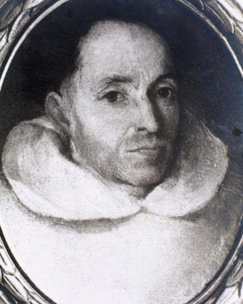 Stock Photo: 4409-38865 TIRSO DE MOLINA, seud. de Fray Gabriel TELLEZ (h.1571-1648). Comediógrafo español. Retrato. Colección Duque del Infantado.